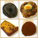 63041164 - リッチチョコ メロンパンベーグル・半熟卵のキーマカレーベーグル・キャロットケーキ・ブラック&ホワイトベーグル