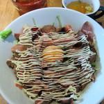 サックスブルーダイナー - Aランチ・ローストビーフ丼・肉並