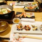 Koraku - 前菜、鍋物 カニ