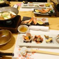 古楽-前菜、鍋物 カニ