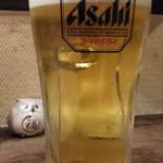 ふくろう - 生ビールはスーパードライ通常500円が100円引き