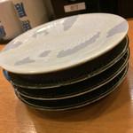 市場ずし 魚辰 - 市場ずし 魚辰(福岡県福岡市中央区長浜・市場会館1F)お皿