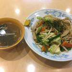 味の店 錦 不動前店 - 醤油焼き麺@790円