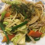 味の店 錦 不動前店 - 醤油焼き麺のアップ