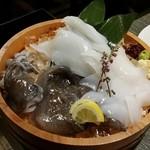泳ぎイカ 北海道知床漁場 -