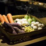 焼鳥今井 - 季節の野菜を炭火焼に