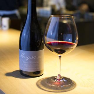 グラスワインは約9種類ほどご用意しております。