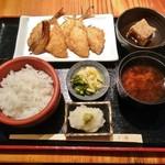 京ばし松輪 - アジフライ定食 1300円