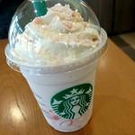 スターバックス・コーヒー - サクラブロッサムクリームフラペチーノ 容器も桜模様♪