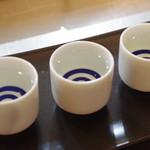 朝とった魚 薩摩じんべえ - 寫樂純米、東洋美人純吟50、三井の純吟大辛口