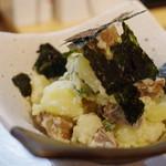 朝とった魚 薩摩じんべえ - 有機じゃがいもの腹皮燻製ポテトサラダ