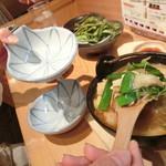 和食の源 - 「鶏つくね鍋」640円