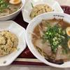 皇蘭 - 料理写真:味玉そばと炒飯セット