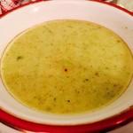 ターキッシュキッチン - 本日のスープは緑色!