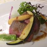 カンパーニュ - 料理写真:オーストラリア産サーロインステーキ ソース・ジャポネ