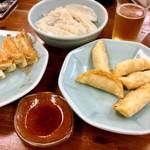 宇都宮みんみん - 餃子3種類にビールでしばし至福の時…