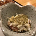 天ぷら料理 さくら - ズワイガニポン酢味噌