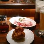 GLASS DANCE - [料理] お通し (ポップオーバー) / Prosciutto /  BEL WHITE
