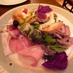 トラットリアカンパニオ - 10種の前菜盛り合わせ(800円)スゴイボリュームです!
