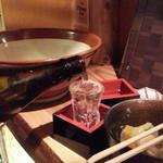相撲めし 皇風ノ店 - 日本酒約一合1,800円(!)のYK35なるものを1杯
