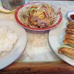 白水 - ①+餃子、無敵の昼飯