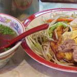 白水 - 肉モヤシ炒めとスープ