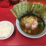 長谷川家 - ラーメン+海苔増し+小ライス