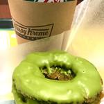 クリスピー・クリーム・ドーナツ - コーヒーT¥340と抹茶オールドファッション¥210 コンポセットで¥50引