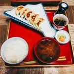 鐵馬厩 - まぐろ餃子定食 900円(税別)