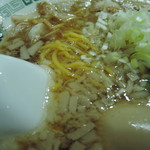 IKR51with五拾壱製麺 - 背脂はプリプリ食感要員。  甘味と厚みを少し加える。