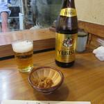 安曇野 - 瓶ビール・お通し