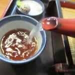 安曇野 - 自然体の蕎麦湯