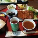 レストランあしびき - 料理写真:ビーフカツ定食