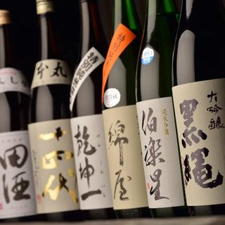 地酒、本格焼酎、梅酒も多数ご用意!