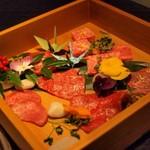 """焼肉yamazon - """"焼肉:米沢牛(タン、内もも、イチボ、カブリ、ハラミ、肩ロース、リブロース)"""""""