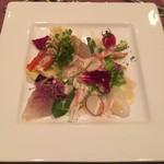 レストラン・タカノ - 前菜 : 海の幸のカルパッチョ
