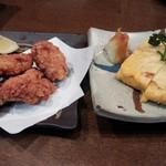 武蔵 - 鳥唐揚げ・出汁巻き卵