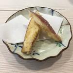 寿司屋のくま川 - 芋の天ぷら
