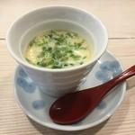 寿司屋のくま川 - 茶碗蒸し