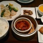 天津飯店 - [料理] Dランチ セット全景♪w