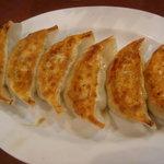 悟空 - 野菜餃子です、にんにくが過度に効いていてにんにく好きにはうれしかったぁ