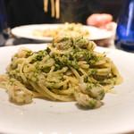 レガリア - 料理写真:海老と新物青のりのクリームソース