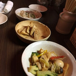9689食堂 - 八宝菜・筍煮物・スパゲティサラダあっさりマヨ和え