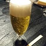 つるとんたん - ランチ生ビール    ¥450