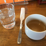 パプリカ - コンソメらしいスープ、冷たい身体にはとても優しい