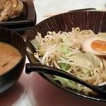 麺匠 竹虎 - おろし生姜の味噌豚つけ麺