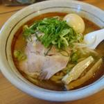 すすきの亭 - みそラーメン+煮玉子