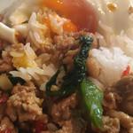 ソンクラン - バジル炒めご飯のアップ