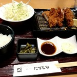 とんかつ たづむら - 料理写真:牡蠣&ヒレカツ定食