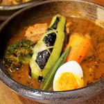 らっきょ&Star - 三軒豚角煮と野菜のスープカレー 1,500円
